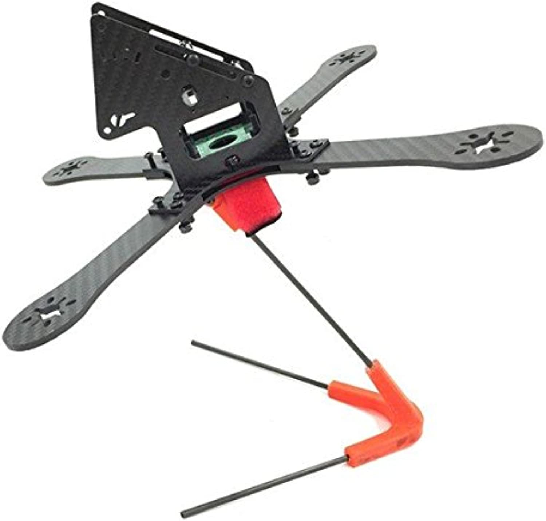 PhilMat GE-FPV GE-X240 Monster 4 Achsen Carbon Fiber-Rahmen-Kit mit StromGrüneilungsplatine fr Quadrocopter