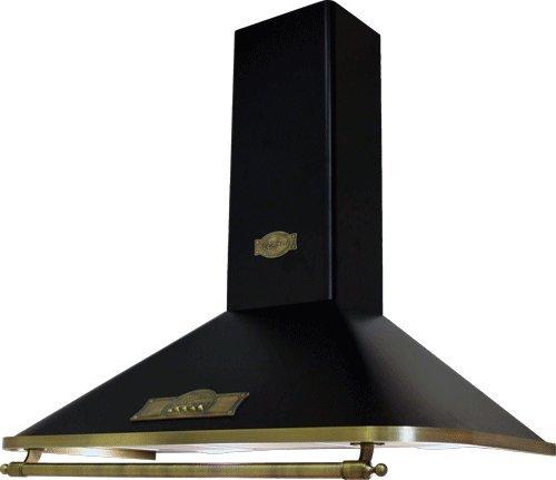 Exklusive Designer Dunstabzugshaube 90cm/Wandhaube Modellreihe EMPIRE/ 910m³/h/ Kaminhaube Schwarz – Empire/Griff – Bronze/Abzugshaube /Esse/antik Flair/Inkl.Umluftset/Abluft Umluft/UVP 899 EUR