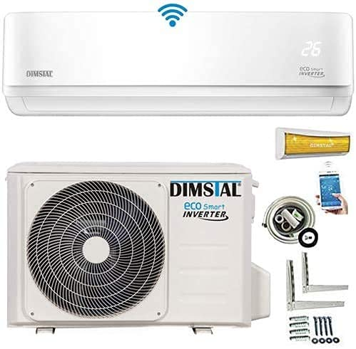 INVERTER A++/A++ Split Klimaanlage Klimagerät ECO Smart WLAN/WiFi komplett Set inkl. 3m Kupferleitungen & Heizfunktion (3,5 kW/12000btu)