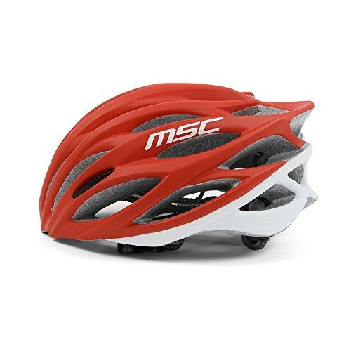 MSC Bikes MSC Inmold - Casco, Color Rojo/Blanco, Talla M/L