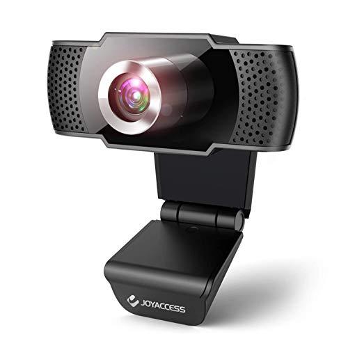 【2020年最新デザイン】JOYACCESS ウェブカメラ フルHD 1080P 30fps 200万画素 広角 Webカメラ マイク内蔵 立体ノイズ低減 手動フォーカス USB PC 外付けカメラ 自動光補正 美顔機能 リモート勤務 zoom/skype ウェブ会議/オンライン授業/在宅勤務/ゲーム実況/生放送など対応可能 1年間メーカー品質保証 アマゾン国内速出荷(Black)