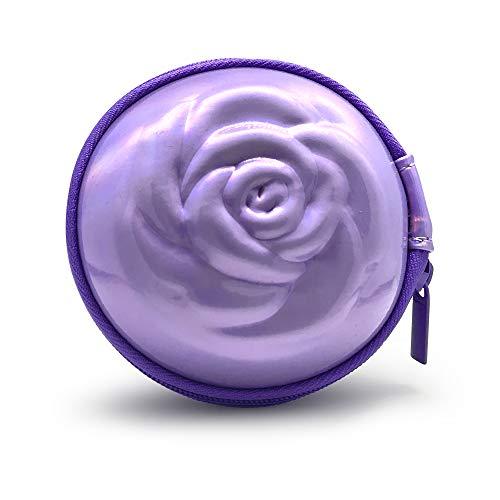 Sileu Case - Estuche para copas menstruales - Ideal para llevar tu tampón o copa menstrual de forma elegante y discreta en tu bolso o para viajes - Grande, 10 cm - Morado Holográfico