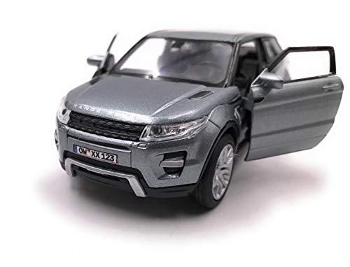 Onwomania Modellauto mit Wunschkennzeichen Evoque SUV Grau Auto Maßstab 1:34-39 (lizensiert)