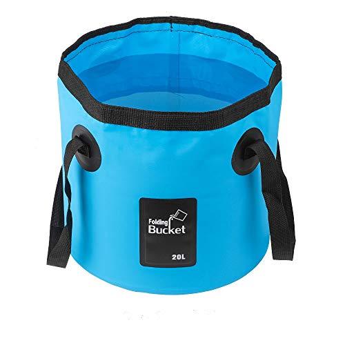 Mostfun Cubo de agua plegable, contenedor de almacenamiento para acampar, al aire libre,...