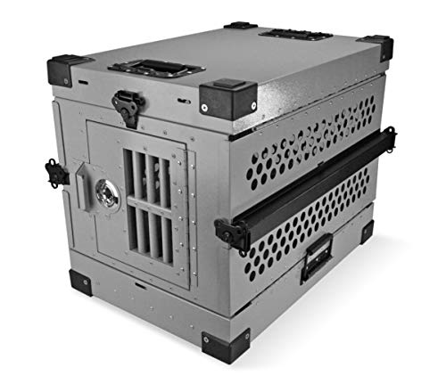 Extreme Consumer Products Small Folding Dog Crate Deluxe - Collapsible Travel Carrier with Reinforced Construction