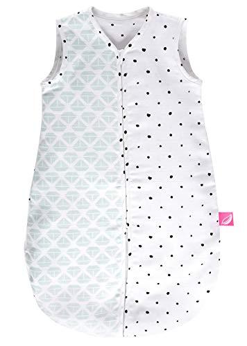 Motherhood Babyschlafsack Sommer aus Baumwollmusselin von - kuscheliger Babyschlafsack Öko Tex Standard, Klasse 1, Größe: 0-6 Monate, Schiffe mintgrün