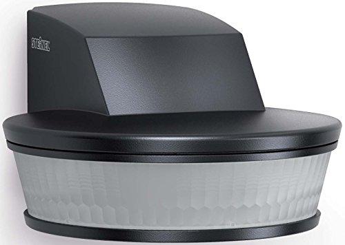 Steinel 4057 sensIQ S KNX Bewegungsmelder HF DALI Silber, 180° Unterputz-Sensorschalter, Radar-Präsenzmelder, 2000 W Schaltleistung, 3-Draht-Montage, Schwarz