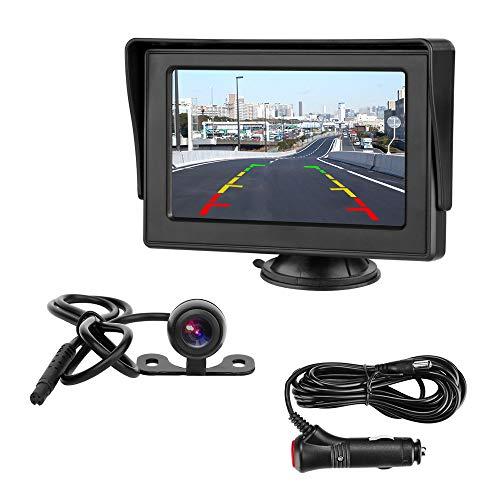 Rückfahrkamera mit Monitor 4.3\'\' Rückfahrkamera IP68 Wasserdicht Nachtsicht Kit Einparkhilfe System