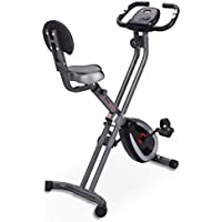 Ultrasport F-Bike 300B Bicicleta estática Plegable, Ordenador y App,F-Bike 300B con Respaldo & APP, Unisex, Negro Mate