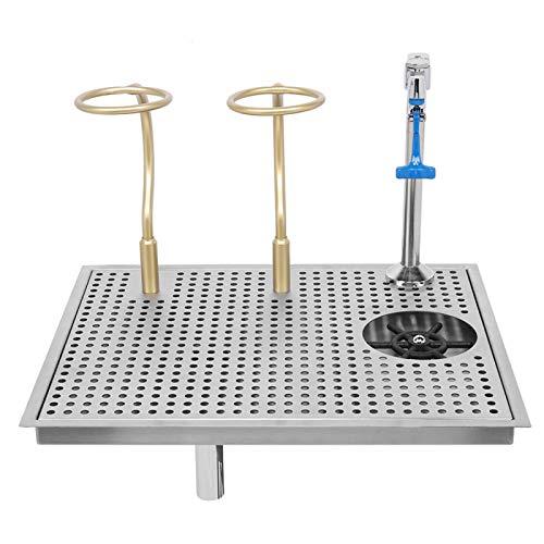 Lavadora Automática de Vasos | Limpiador de Vidrio de Barra de Acero Inoxidable con Filtro de Grifo de Empuje Limpiador de Vasos de Vidrio para Cocina/Bar/Pub/Restaurante