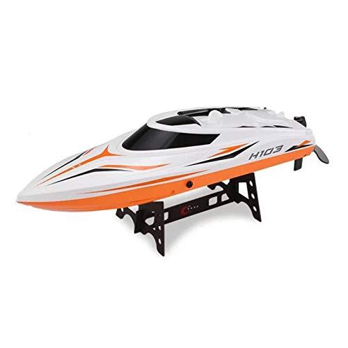 LWXXXA Barco RC, Barco RC rápido de Gran tamaño para niños Adultos, Barco con Control Remoto autoadrizable con Pantalla LCD, batería de Barco Recargable