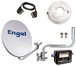Kit Antena PARABOLICA Engel 60CM+ LNB+LOCALIZADOR + Kit