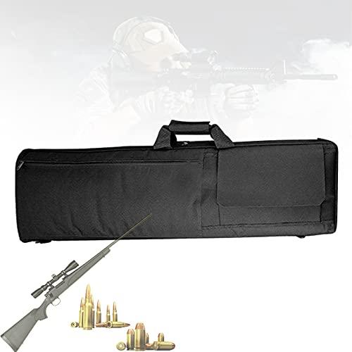 EnweLampi Estuche para Rifle Táctico Airsoft, Bolsa Larga para Rifle con Protección Algodón para Huevos, Correa Hombro Ajustable, Bolsa para Rifle Airsoft Tiro para Caza, 39 Pulgadas,Negro
