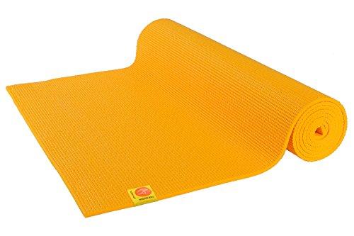 Chin Mudra Tapis de Yoga Confort Non Toxiques - 183cm x 61cm x 6mm - Jaune Safran