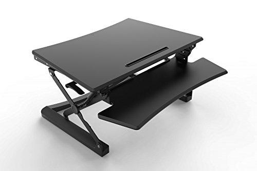 Bakker BNEASSDR Elkhuizen Sitz-Steh-Schreibtischaufsatz Verstellbereich, 150-500 mm, schwarz
