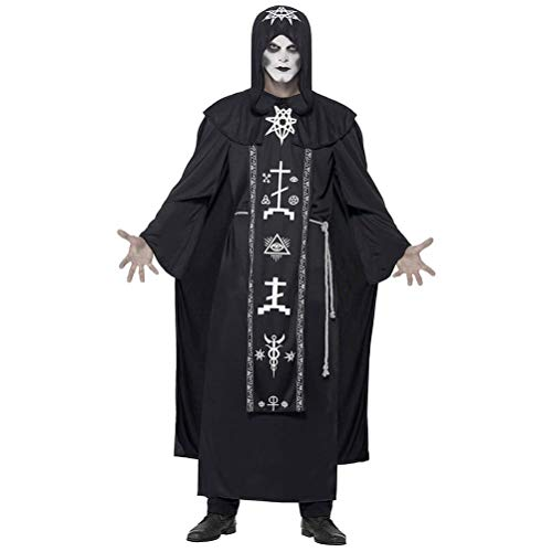 Eviktory Disfraces de Halloween para hombres y mujeres adultos Sombrero divertido Tnica Conjunto de capa Ropa Cosplay Mago Mago Vampiro Personaje del juego Mascarada Carnavales Accesorios Decoracion
