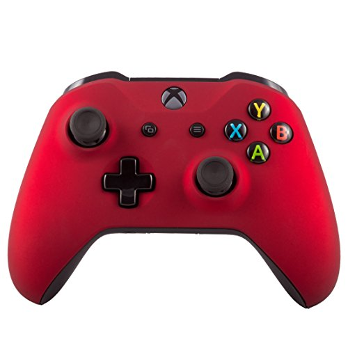 Xbox One S Wireless Bluetooth Controller For Microsoft Xbox One Custom Soft Touch Red