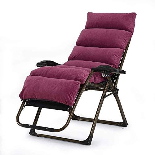 BSJZ Cómodo cojín reclinable de Gravedad Cero, Cojines Plegables para sillón de Exterior para jardín, Patio, Piscina, Soporte, sillón portátil, sillón para el hogar
