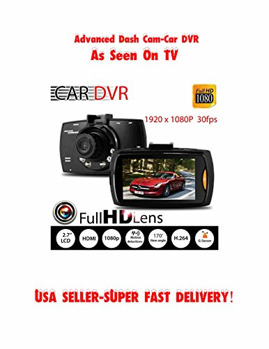 "Advance Full HD 1080P 2.7"" Car DVR Dash Camera Protector G-Sensor Night Vision Recorder w/Sandisk 16GB TF Card Super"