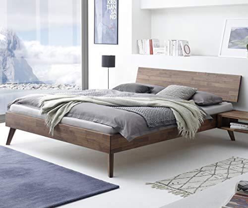 Hasena Fine Line Bett Ancona Nussbaum massiv 160x200