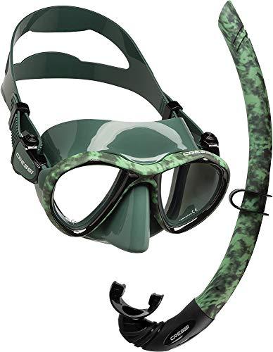 Cressi Metis & Corsica Snorkeling/Diving Combo Set Mixte Adulte, Camouflage Vert