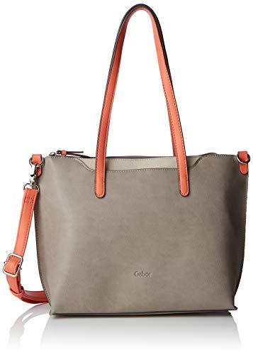 Gabor - Filippa, Shoppers y bolsos de hombro Mujer, Gris (Taupe), 35x24x11...