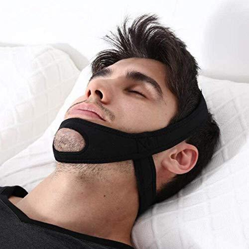 Dr.BeTree Anti Snoring Chin Straps,Ajustable Stop Snoring Solution Snore Reduction Sleep Aids,Anti Snoring Devices Snore Stopper Chin Straps for Men & Women-Black (Black)