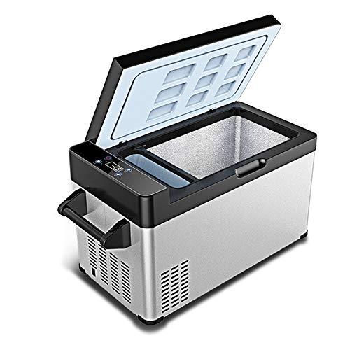 ZLININ Refrigerador de coche 30L AC DC12V24V Compresor portátil Picnic al aire libre RV Auto Refrigerador congelador profundo Caja de hielo Mini nevera Viaje Hogar (Nombre del color: Gris)
