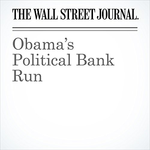 Obama's Political Bank Run cover art