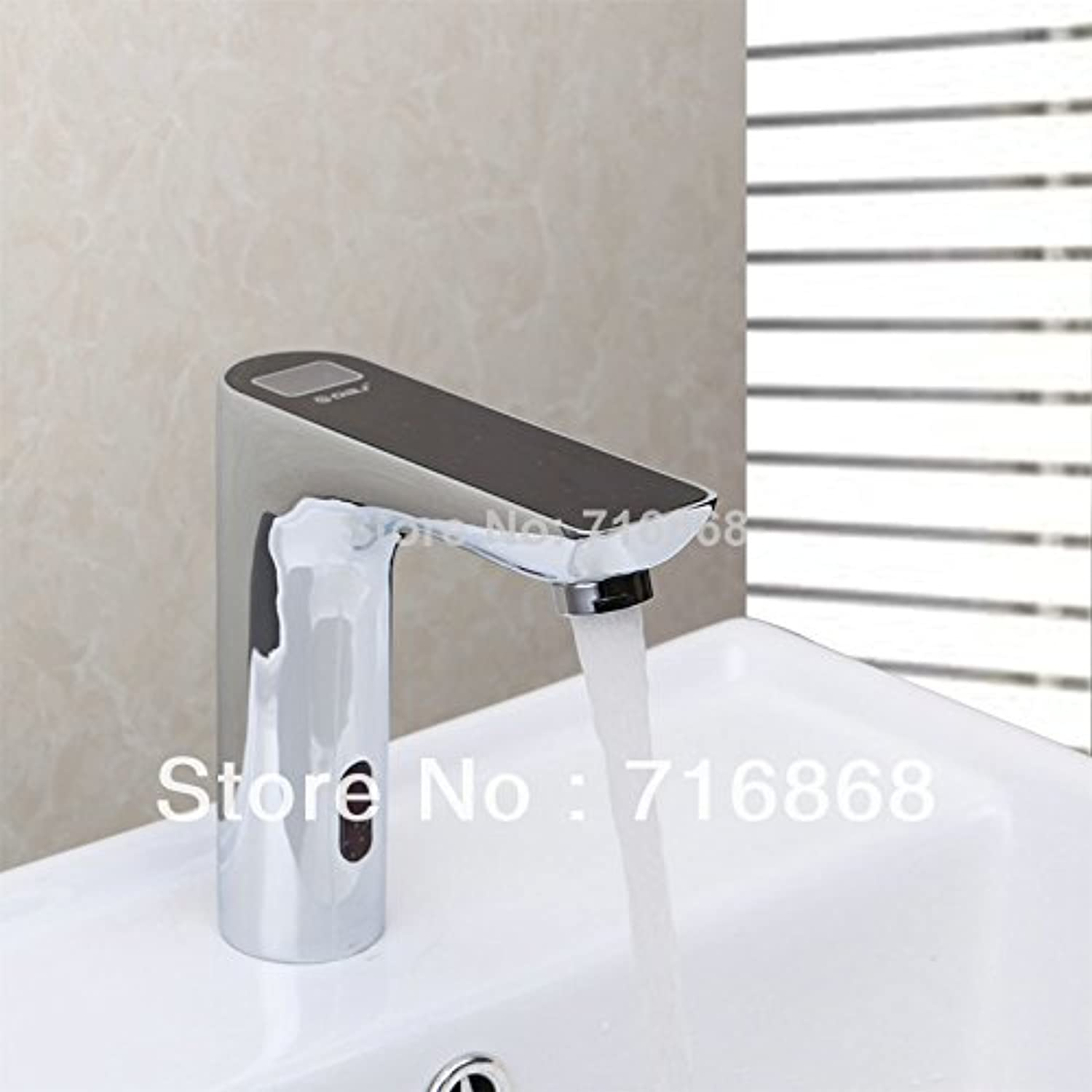 Jduskfl Kitchen Faucet Net Faucet Bathroom Faucet New Us Free Shipping Wholesale and Retail Wall Mount Bathroom Basin Sink Faucet Waterfall Two Holes Single Handle Chrome Finish,Brass,Red