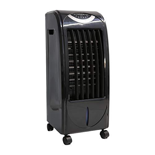 ZINNZ SELECTED Refroidisseur d'air 5 en 1 avec chauffage intégré pour l'hiver, climatiseur mobile sans tuyau d'évacuation avec 4 blocs de refroidissement (noir)