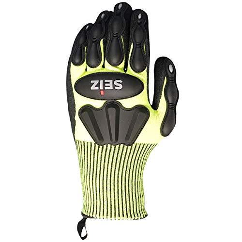 SEIZ HORNET 800260 Universeller Handschuh für Rettungskräfte, Gr. 11, Gelb/Schwarz