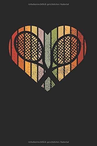 Tennis Herz: Tennis Notizbuch Mit 120 Linierten Seiten (Linien) Inkl. Seitenangabe. Als Geschenk Eine Tolle Idee Für Auflschlag Fans, Tennis Liebhaber  Und Tennisball Spieler