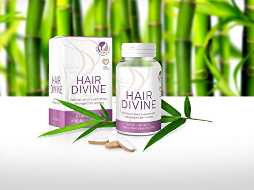 Natural Vegan Hair Growth Supplement for Women, 60 Tablets, 2 Month-Supply