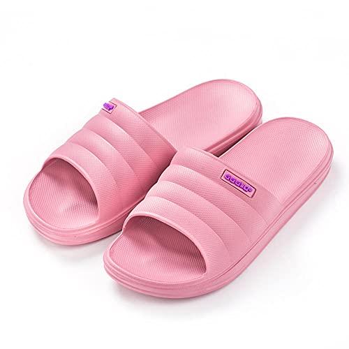 JFHZC Zapatillas de Piscina Antideslizan,Pantuflas de Secado rápido para Hombres y Mujeres, Sandalias Antideslizantes y Pantuflas para Fuera de casa en Verano-Skin_Red_37