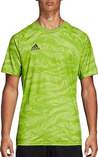 adidas AdiPro 19 - Camiseta de manga corta para hombre - DP3131, XL, Verde Semi Solar