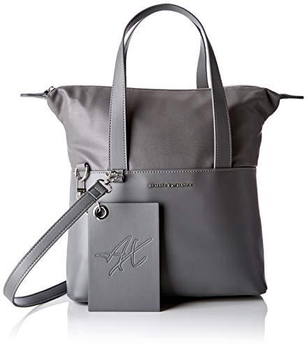 ARMANI EXCHANGE Small Shopping Bag - Borse a spalla Donna, Grigio (Grey Goose), 29.0x12.0x44.0 cm (B x H T)