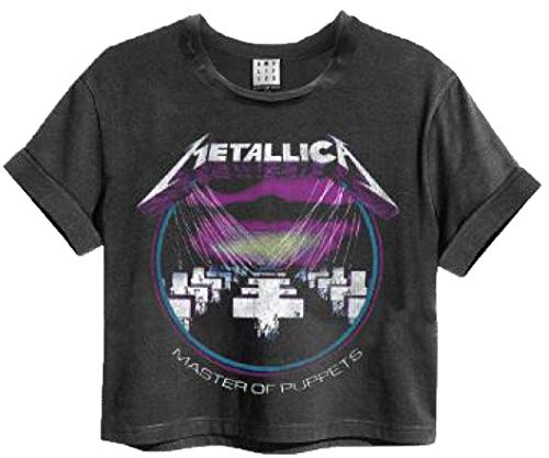 Amplified Metallica Master of Puppets Womens Cropped T-Shirt (Large)