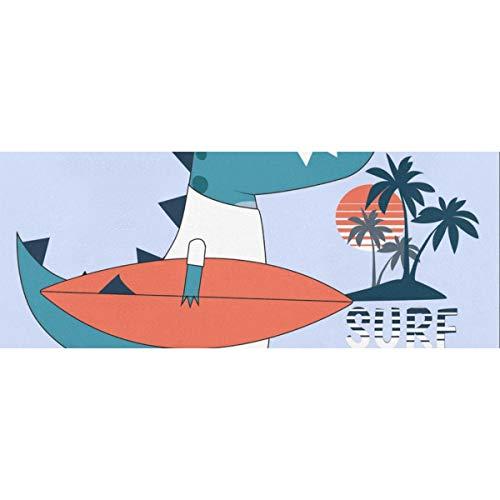Nette Dinosaurier The Surfer Geschenkpapier 58x23inch 2 Rollen Wrapping Weihnachtspapier Hochzeitsgeschenk Wrap für Muttertag Osterhochzeiten Geburtstage oder jede Gelegenheit