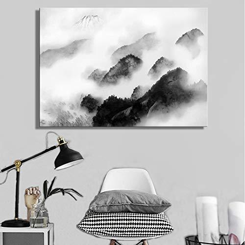 Davide Alisa Tinta China Tradicional Paisaje Carteles e Impresiones Arte de la...