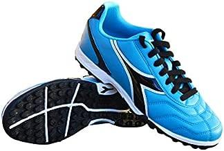 Diadora Women's Capitano TF Turf Soccer Shoes (6.5 Wide, Columbia Blue/Black)