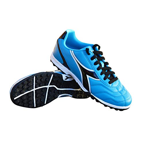 Diadora Women's Capitano TF Turf Soccer Shoes (8.5 Wide, Columbia Blue/Black)