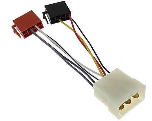 Adattatore radio per Fiat Cinquecento, Tempra, Tipo, Uno, cavo e connettore per l'autoradio, ISO DIN