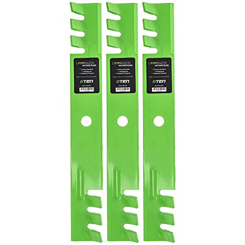 8TEN LawnRAZOR Mulching Blade for John Deere 54 inch Deck 325 335 345 2254 Scotts GY20569 M113518 M115496 3 Pack