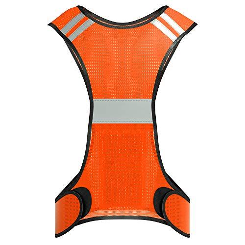 EAZY CASE Reflektorweste, Sicherheitsweste, flexibel einstellbar I Warnweste mit Reflektoren, atmungsaktiv I reflektierende Weste, ideal zur Erhöhung der Sichtbarkeit im Straßenverkehr, Neon Orange