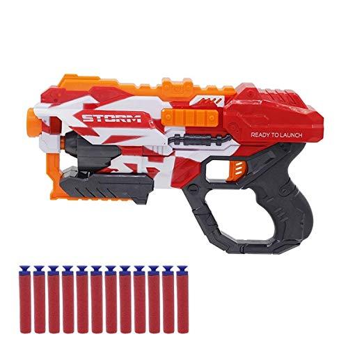 XIAOKEKE Pistolas De Juguete para Niños, Pistolas De Juguete con Dardos De Espuma (con 12 Balas De Espuma Blanda), Pistolas De Ondas De Choque para Niños, Regalos De Cumpleaños para Niños Y Ni