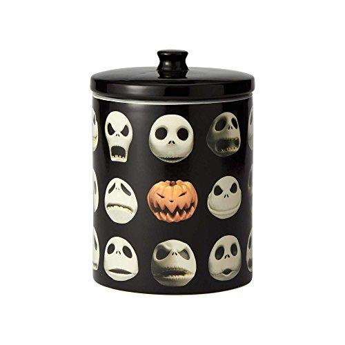 Enesco Disney Ceramics Nightmare Before Christmas Jack Skellington Cookie Jar Canister, 9.25 inch, Black