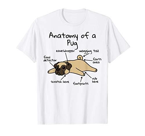 犬の解剖学パグ犬 Tシャツ