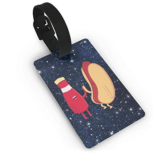 Tag bagagli Ketchup & Hot Dog Pack Luggage Tag Label Suitcase Tags Travel Bag Labels