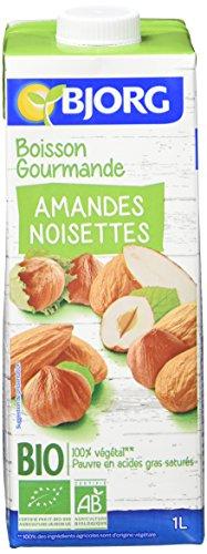 Bjorg Boisson Gourmande Amandes Noisettes - Boisson végétale Bio - 1 L - Lot de 4
